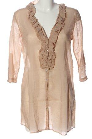 Zara Woman Hemd-Bluse braun Casual-Look