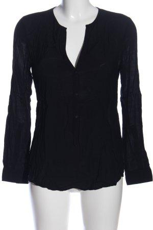 Zara Woman Hemd-Bluse schwarz Business-Look