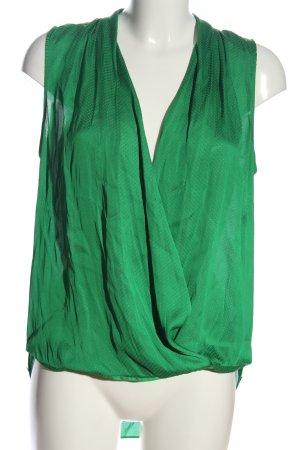 Zara Woman Hemd-Bluse grün Allover-Druck Casual-Look