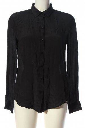 Zara Woman Hemd-Bluse schwarz Casual-Look