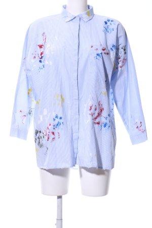 Zara Woman Hemd-Bluse Farbtupfermuster Destroy-Optik