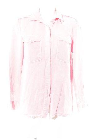 Zara Woman Hemd-Bluse rosa Casual-Look