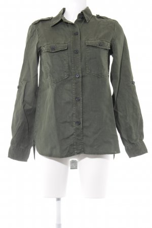 Zara Woman Hemd-Bluse waldgrün Casual-Look