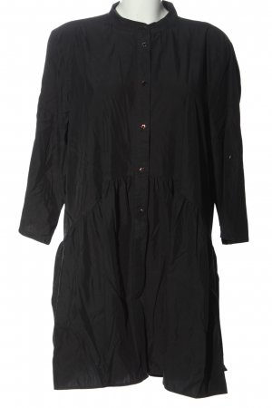 Zara Woman Hemdblusenkleid schwarz Casual-Look