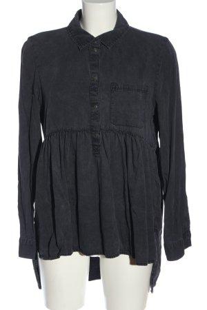 Zara Woman Hemdblousejurk lichtgrijs casual uitstraling