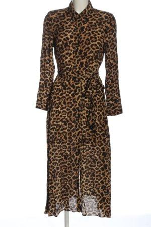 Zara Woman Shirtwaist dress brown-black animal pattern casual look