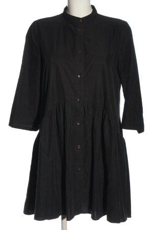 Zara Woman Hemdblusenkleid schwarz Business-Look