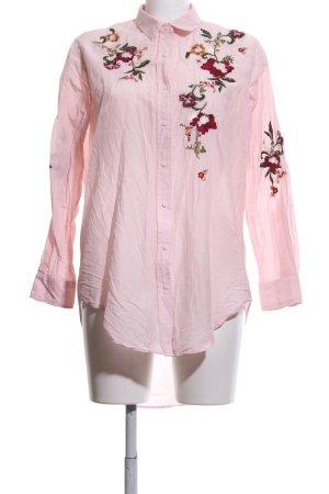 Zara Woman Hemdblusenkleid pink Casual-Look