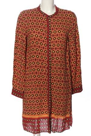 Zara Woman Hemdblousejurk volledige print casual uitstraling