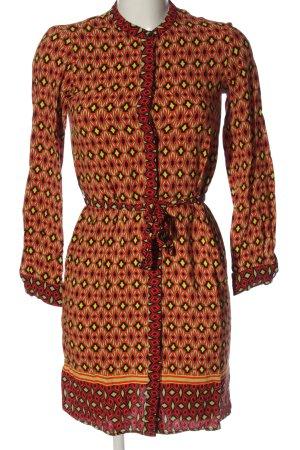 Zara Woman Hemdblusenkleid Allover-Druck Casual-Look