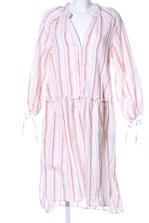 Zara Woman Hemdblusenkleid weiß-rot Allover-Druck Casual-Look