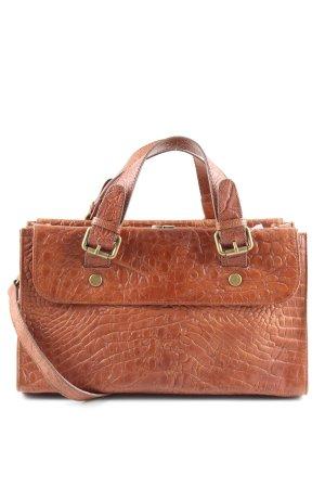 Zara Woman Carry Bag light orange animal pattern business style