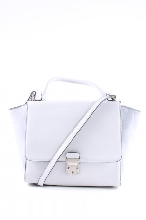 Zara Woman Henkeltasche hellgrau Business-Look