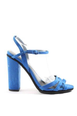 Zara Woman High Heel Sandaletten blau Elegant