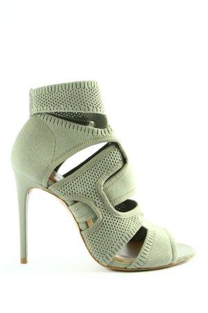 Zara Woman High Heel Sandaletten grün Casual-Look