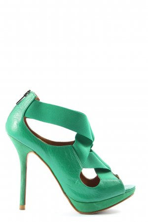 Zara Woman High Heel Sandaletten grün Elegant