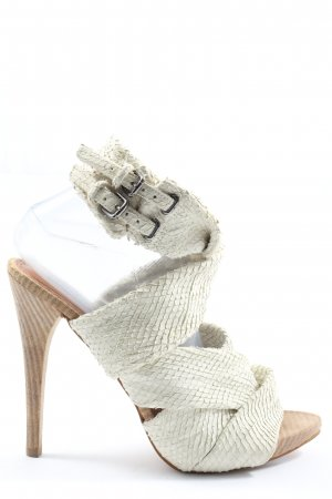 Zara Woman High Heel Sandaletten wollweiß Elegant