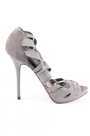 Zara Woman High Heel Sandaletten hellgrau Party-Look