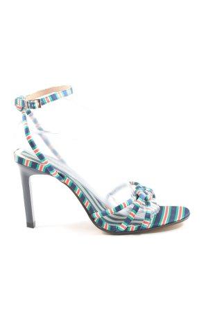 Zara Woman High Heel Sandaletten Streifenmuster Casual-Look