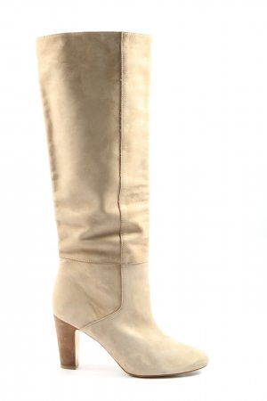 Zara Woman High Heel Stiefel creme Casual-Look