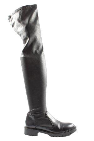 Zara Woman Botas de tacón alto negro estilo extravagante
