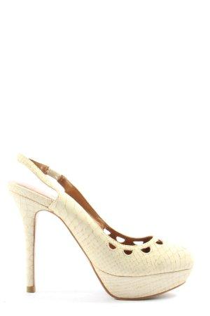 Zara Woman High Heels wollweiß Allover-Druck Elegant