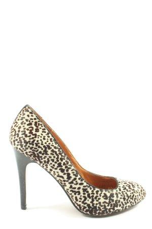 Zara Woman High Heels wollweiß-schwarz extravaganter Stil