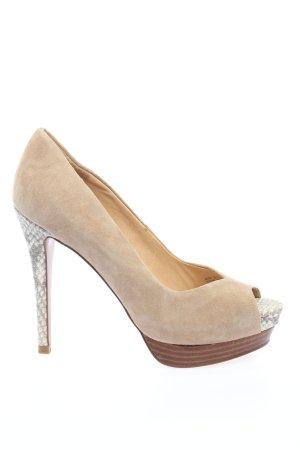 Zara Woman High Heels creme Animalmuster Elegant