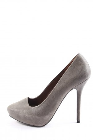 Zara Woman High Heels hellgrau Business-Look