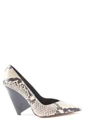 Zara Woman High Heels schwarz-wollweiß Animalmuster Elegant