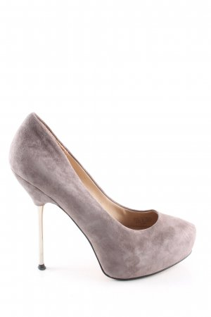 Zara Woman High Heels wollweiß Casual-Look