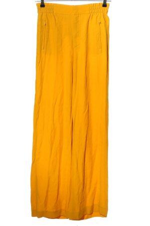 Zara Woman High-Waist Hose blassgelb Casual-Look