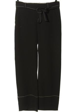 Zara Woman High-Waist Hose schwarz Casual-Look
