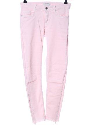 Zara Woman High-Waist Hose pink Casual-Look