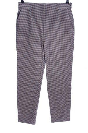 Zara Woman Pantalón de cintura alta marrón Patrón de tejido
