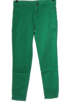Zara Woman High-Waist Hose grün Casual-Look