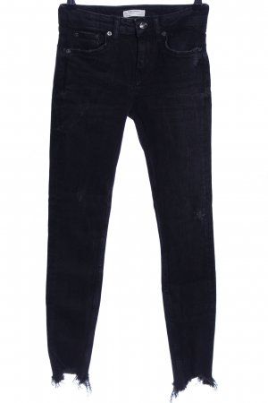 Zara Woman High Waist Jeans schwarz Casual-Look