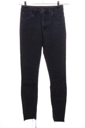 Zara Woman Hoge taille jeans zwart casual uitstraling
