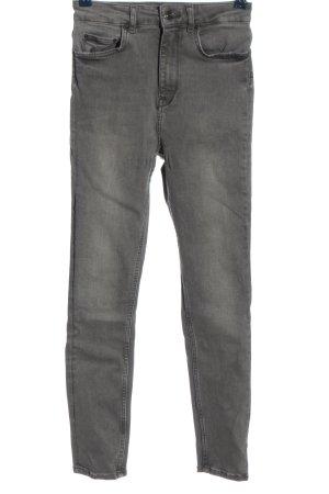 Zara Woman High Waist Jeans light grey casual look