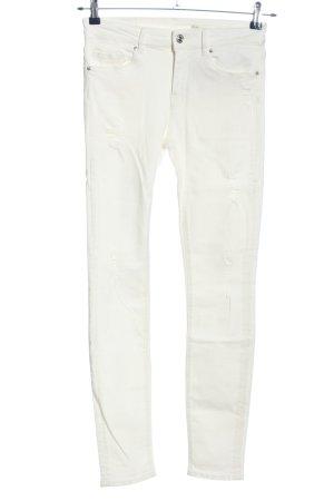 Zara Woman High Waist Jeans weiß Casual-Look