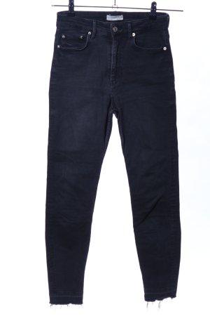 Zara Woman Jeans a vita alta nero stile casual