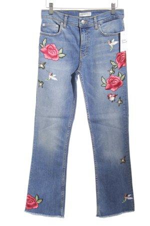Zara Woman Hoge taille jeans veelkleurig straat-mode uitstraling