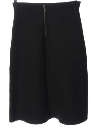 Zara Woman High Waist Rock schwarz Business-Look