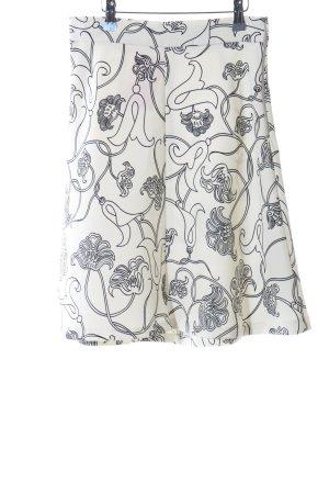 Zara Woman High Waist Rock weiß-schwarz Allover-Druck Casual-Look