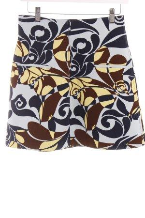Zara Woman High Waist Rock abstraktes Muster Street-Fashion-Look