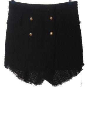 Zara Woman Pantalón corto de talle alto negro look casual
