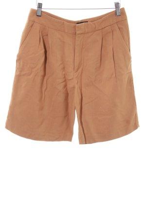 Zara Woman High-Waist-Shorts dunkelorange Casual-Look