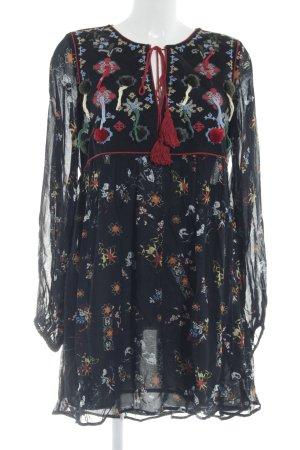 Zara Woman Vestido Hippie multicolor Algodón