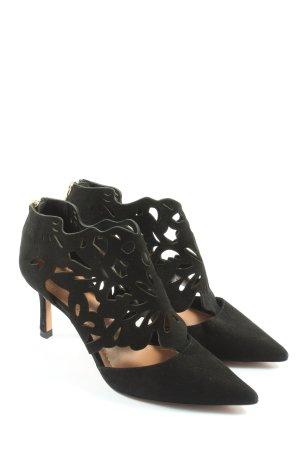 Zara Woman Chaussure à talons carrés noir style décontracté