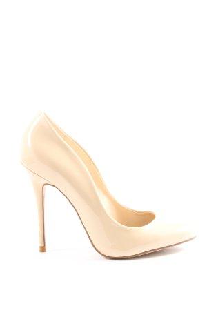 Zara Woman Hochfront-Pumps creme Elegant
